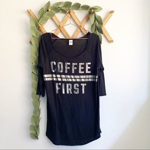 Coffee First Victoria's Secret Pink Sleep Shirt